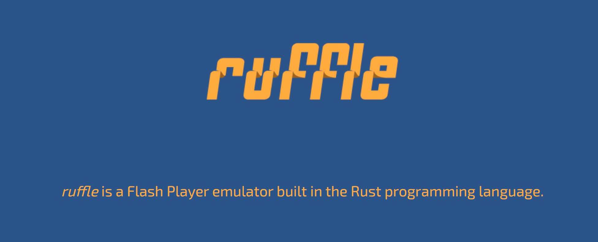 Ruffle Adobe Flash Player emulator for PC – Download ZIP